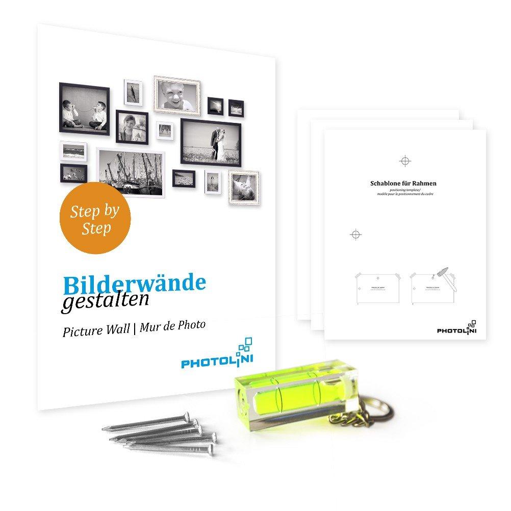 Amazon.de: PHOTOLINI 8er-Set Bilderrahmen Sonoma Eiche Hell Modern ...