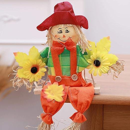Lxj Halloween Decorar Material espantapájaros Swing Encanto jardín de niños Aula Corredor Fondo Pared Accesorios de decoración O Rnaments: Amazon.es: Jardín