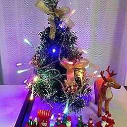 Amazon Sutekusテーブルトップミニクリスマスツリー40 クリスマスボールちょう結びクリスマステーブル装飾装飾 トナカイ付き レッド クリスマス雑貨 おもちゃ