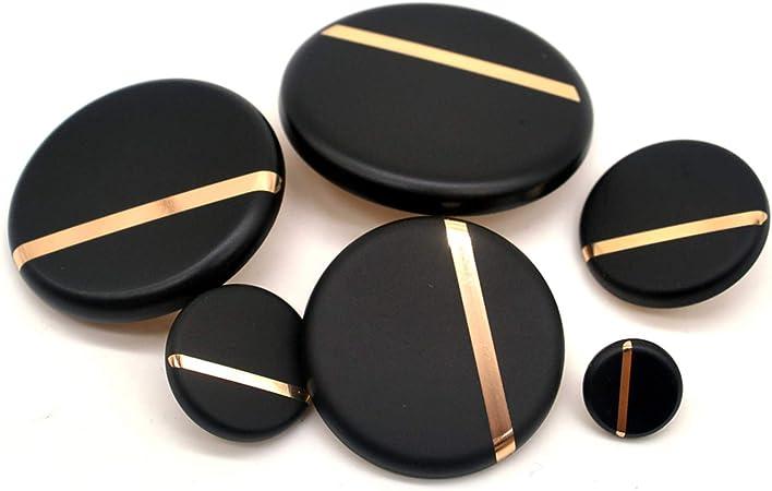Nueva Moda Clásica 30Mm 40Mm Botones de Costura Decorativos Grandes Botones Negros Para Camisa Abrigo Accesorio Diy, 18Mm 10Pcs: Amazon.es: Hogar