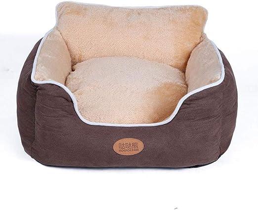 POLKMN Cama Perro Gato Cesto de Cama Cama para Mascotas Cojín Super Suave para Gatos Cachorros y Perros pequeños (Color : Brown, Size : XXL(80 * 95 * 25cm)): Amazon.es: Productos para mascotas