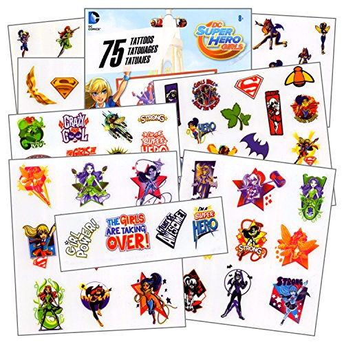 DC Super Hero Girls - 75 Assorted Temporary Tattoos