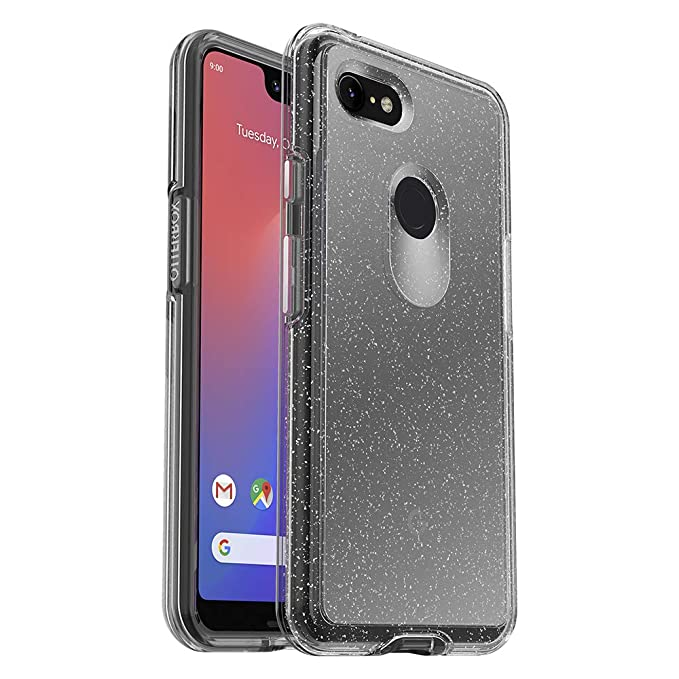 separation shoes 83cb2 a3b23 OtterBox Symmetry Clear Series Case for Google Pixel 3 XL - Retail  Packaging - Stardust (Silver Flake/Clear)