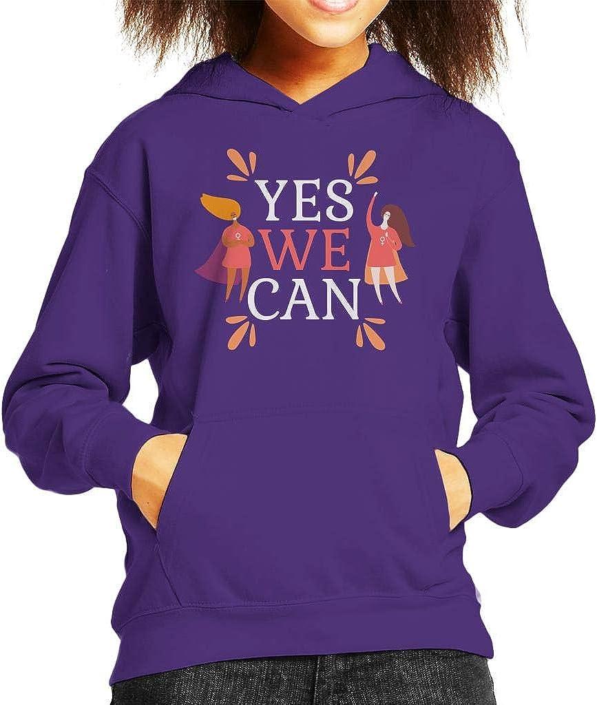 Girl Power Yes We Can Super Kids Hooded Sweatshirt