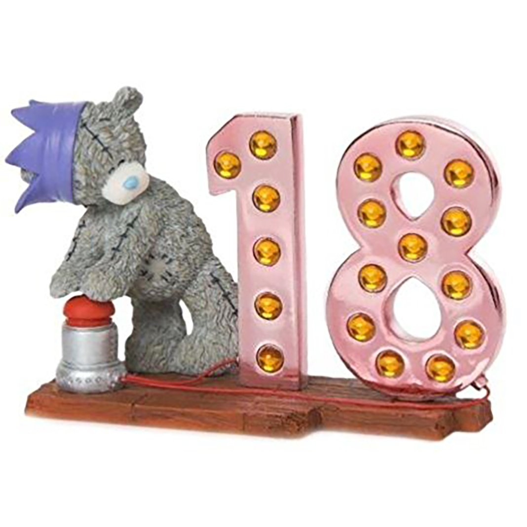 Me To You Tatty Teddy Figurine Decoration Tatty 18th Birthday In Lights