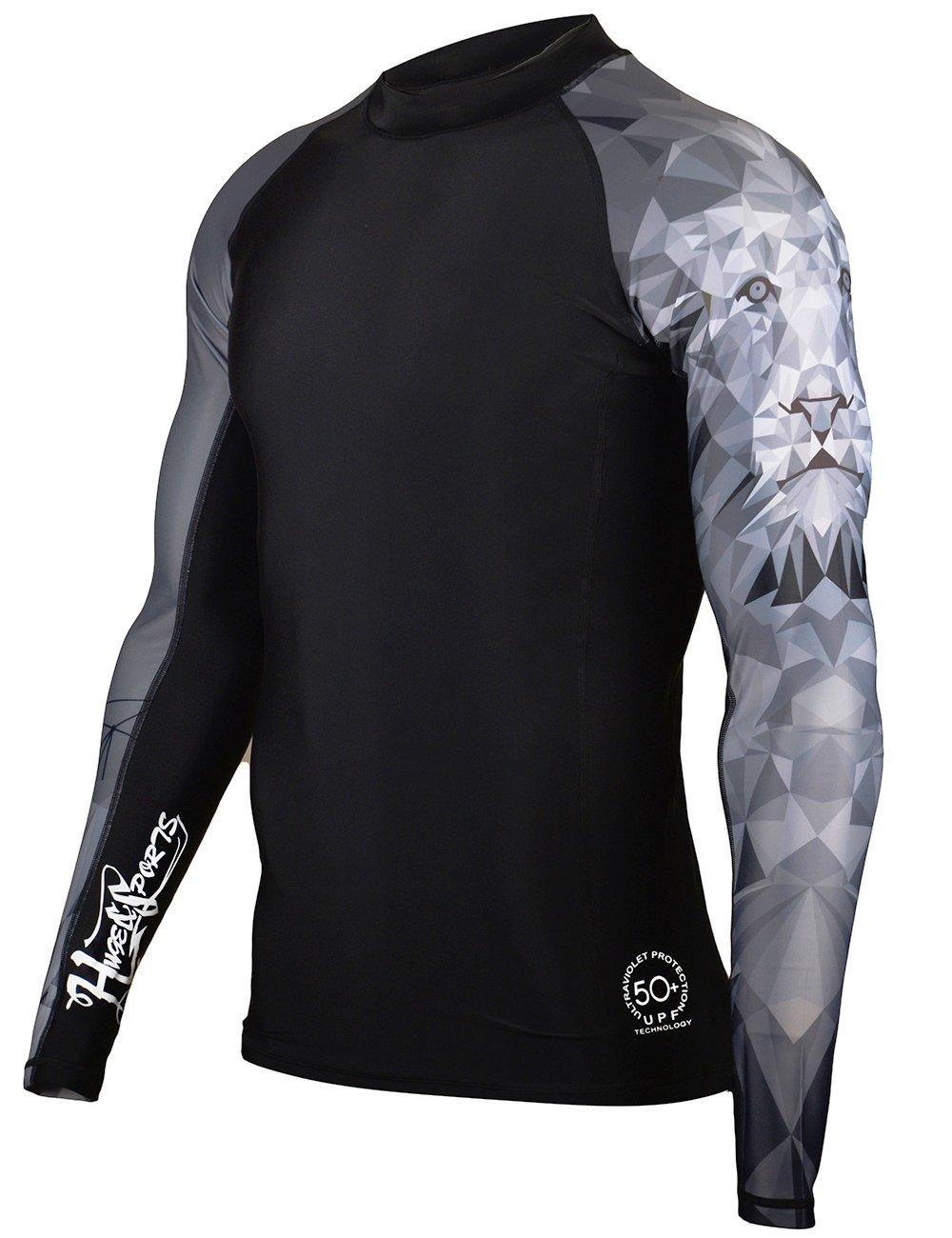 MADHERO Men's Splice UV Sun Protection Short/Long Sleeve Skins Rash Guard 6-RG3244