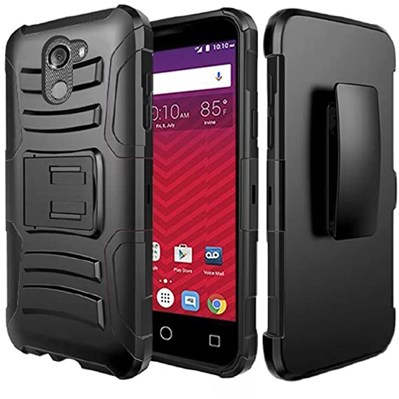 on sale b58a0 4aad1 Alcatel Walters Case, REVVL Case (T-Mobile), Alcatel A30 Fierce Case,  BornTech Heavy Duty Dual Layer Build in Kick stand with Belt Clip Holster  Combo ...