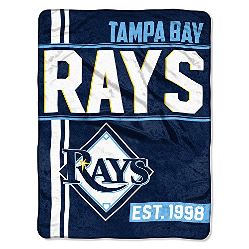 The Northwest Company MLB Tampa Bay Rays Micro Raschel Throw, One Size, Multicolor