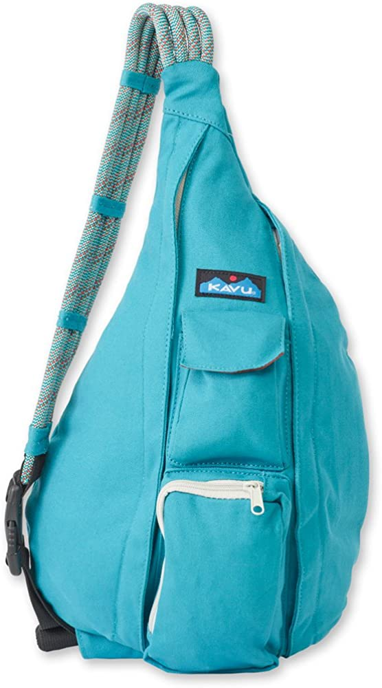 KAVU Women's Rope Bag Backpack, Turquoise, One Size: Clothing