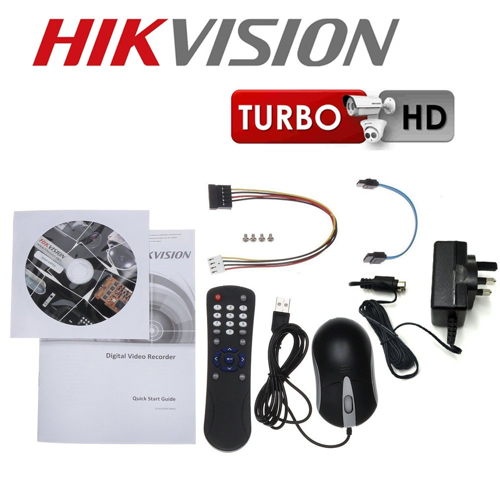 Hikvision DS-7208HGHI-SH Turbo HD Soportes 720p 1080p 8 Canales Analógico Plus HD-TVI Seguridad CCTV Vigilancia Grabador De Vídeo Digital - DVR+500GB Hard ...