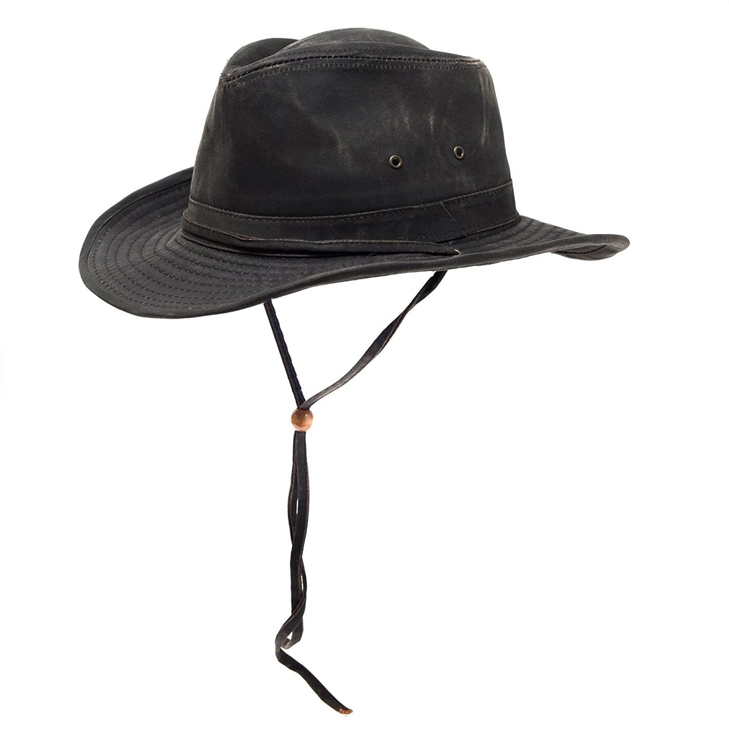 Dorfman Pacific Mens Outback Hat with Chin Cord