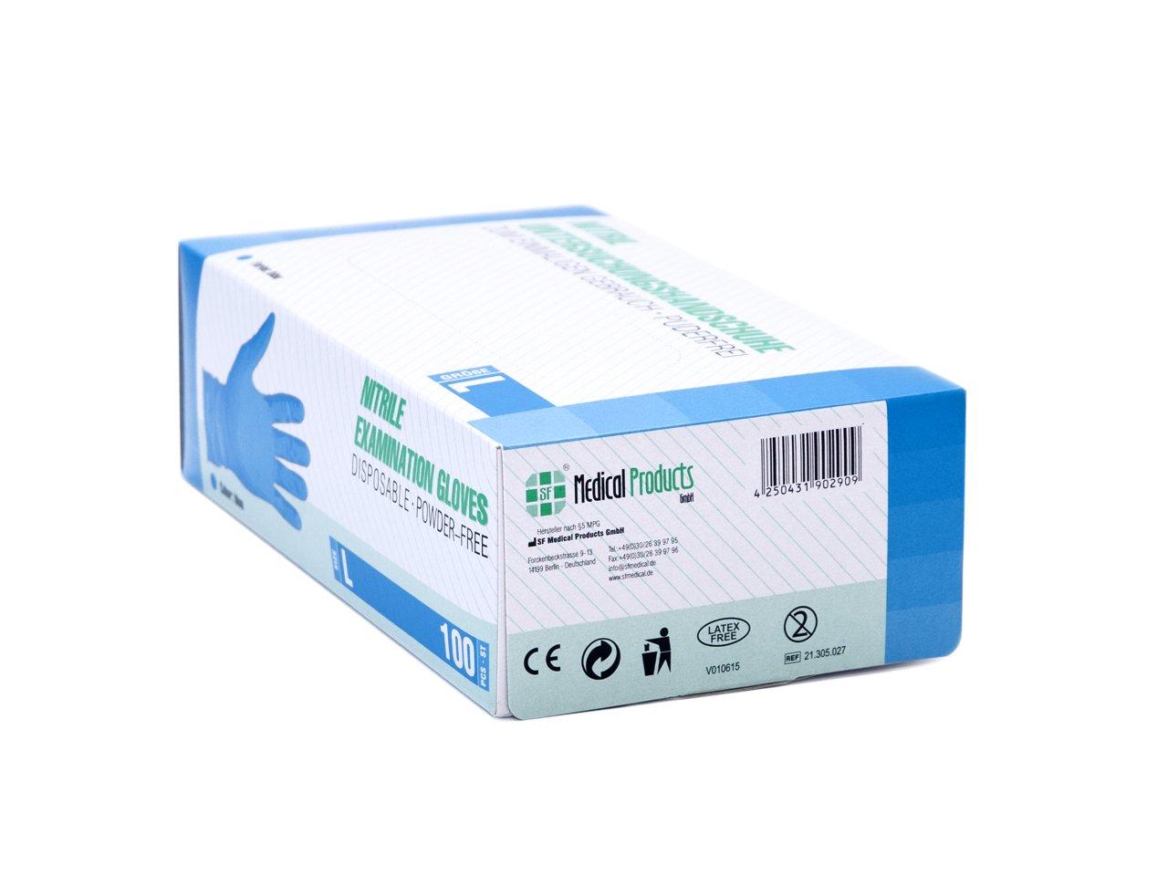 wie die Lebensmittelindustrie Einweghandschuh 100 St/ück Nitril-Einzelhandschuhe wei/ß in einer praktischen Spenderbox Ideal f/ür Hygienebereiche BLACK, L