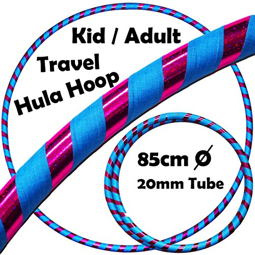 KID's HULA HOOPS - Quality Weighted Children's Hula Hoops! Great For Exercise, Dance, Fitness & FUN! NO Instructions needed! Same Day Dispatch! (UV Blue / Purple Glitter)