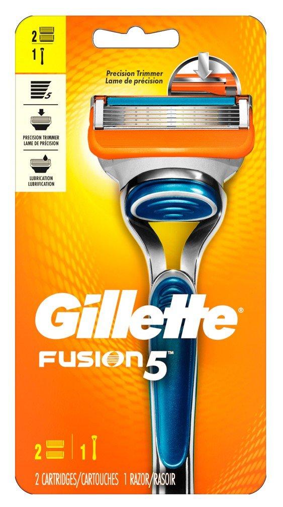 Gillette Mens Fusion 5 Razor + 2-Cartridges (6 Pack)