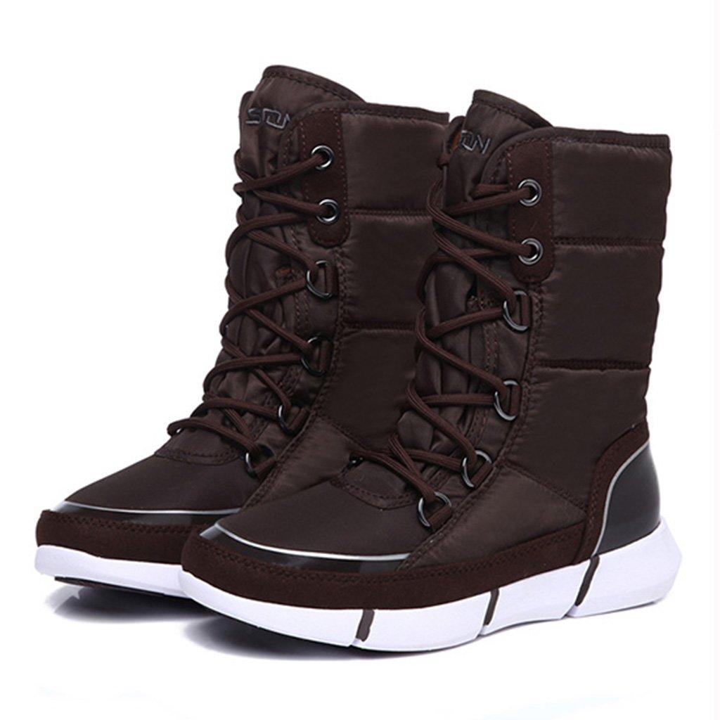 Schneestiefel Snow Stiefel Wild Student Rutschfeste Schuhe Baumwolle Stiefel Weiblich Winter Warm Stiefel (Farbe : Kaffee - Farbe, größe : 40)
