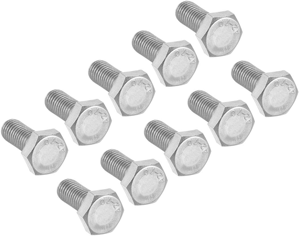uxcell M6 Thread 16mm 304 Stainless Steel Hex Screws Bolts Fastener 10pcs