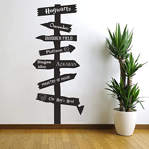 HARRY POTTER HOGWARTS ROAD SIGN WALL QUOTE DECAL VINYL DECOR STICKER DISNEY