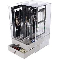 Caja Pendientes Caja Almacenamiento Joyería Transparente de Acrilico