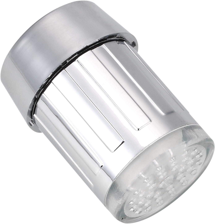 Zeagro LED Lumi/ère Eau Robinet deau Stream /à Changement de Couleur Robinet Robinet lavabo Robinet pour Cuisine et Salle de Bain 1pi/èce