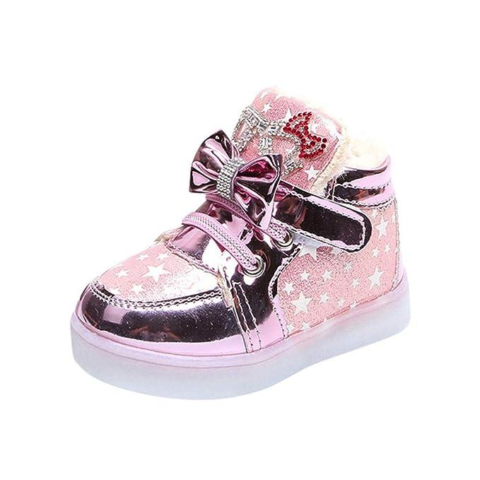 ❤ Zapatillas de Deporte Flash para niños, Niños Niños Niñas Star Bowknot Crystal Mesh Led Light Luminous Sneakers Shoes Absolute: Amazon.es: Ropa y ...