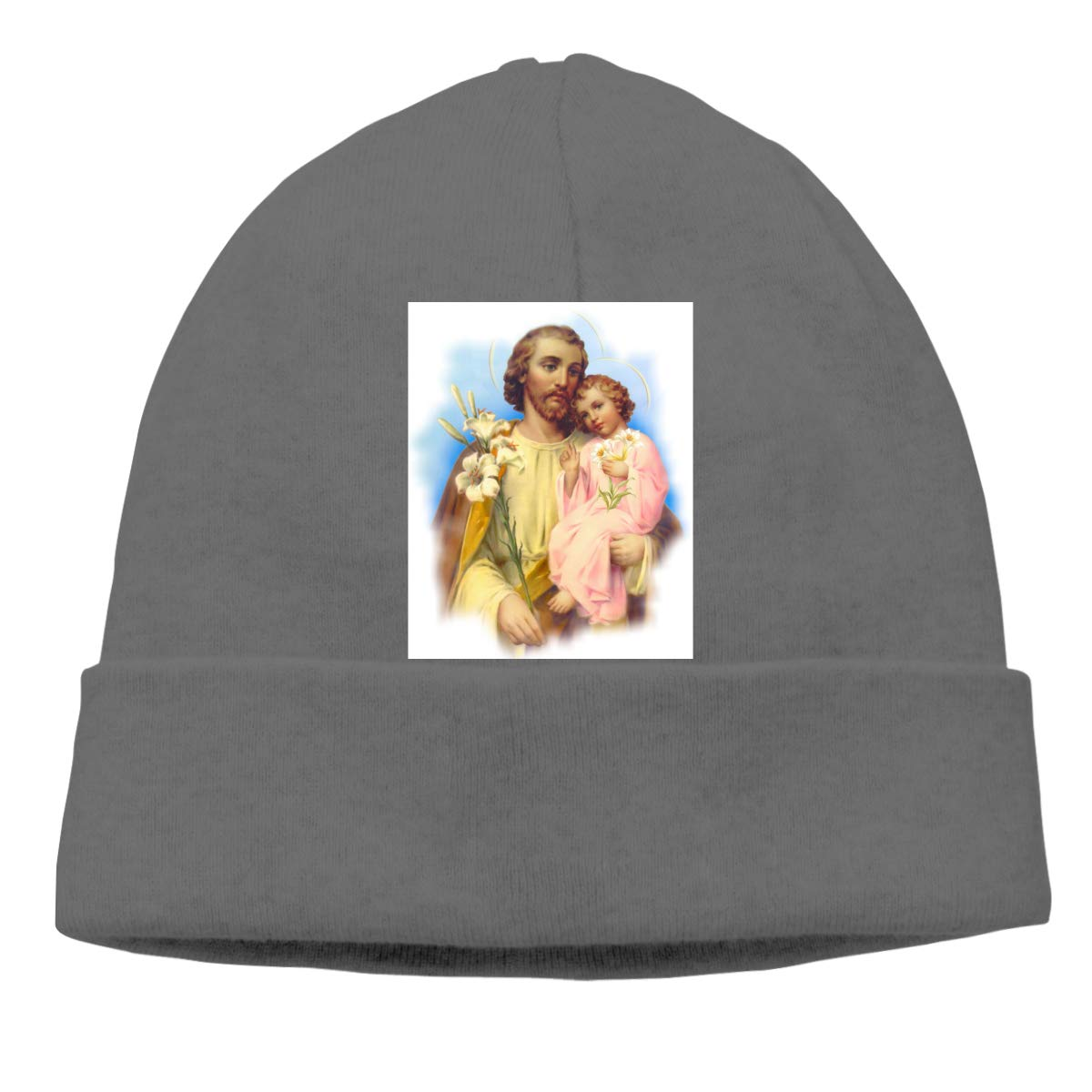 St Joseph Mens Beanie Cap Skull Cap Winter Warm Knitting Hats.