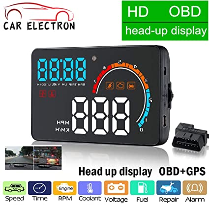 Head-Up Display OBD2 + GPS Sistema dual Ordenador a bordo ...