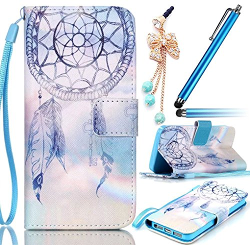 Sunroyal Multi-Functional Synthetic PU Leather Wallet Magnetic Standing Case with Integrated Strap for Samsung Galaxy S3 Mini I8190+Anti-dust Plug+Metal Touch Pen