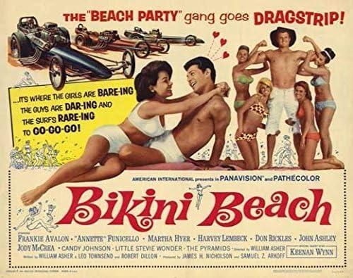 1964 Bikini Beach Vintage Look Reproduction Metal Sign
