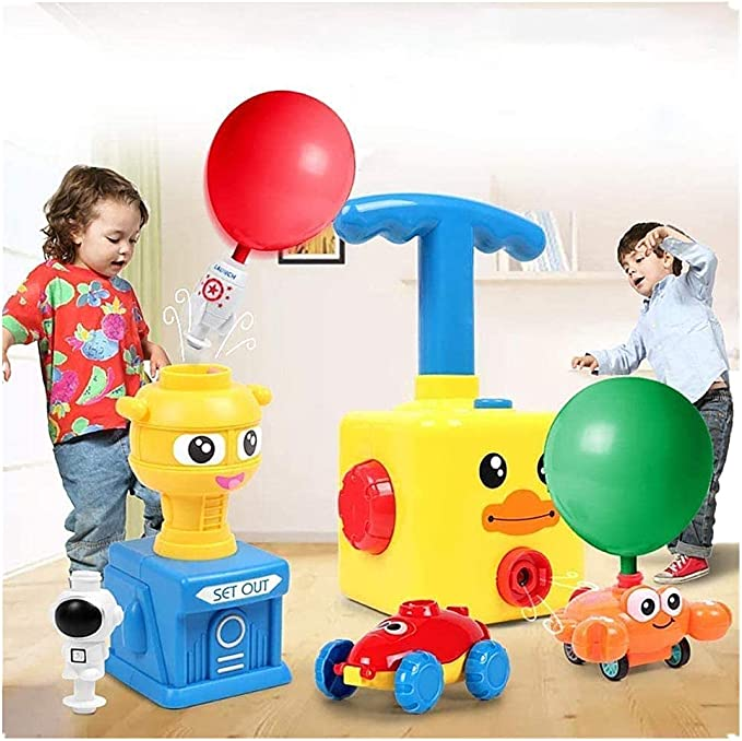 Bestie Balloon Launcher Toy Spaceman And Car 13 Pieces Set