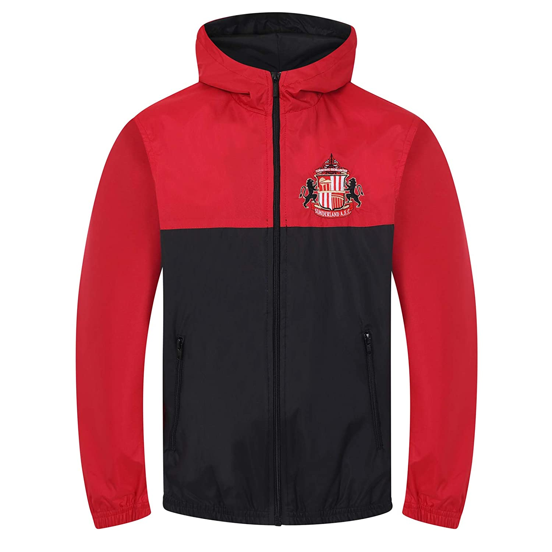 AFC Sunderland Official Football Gift Boys Shower Jacket Windbreaker