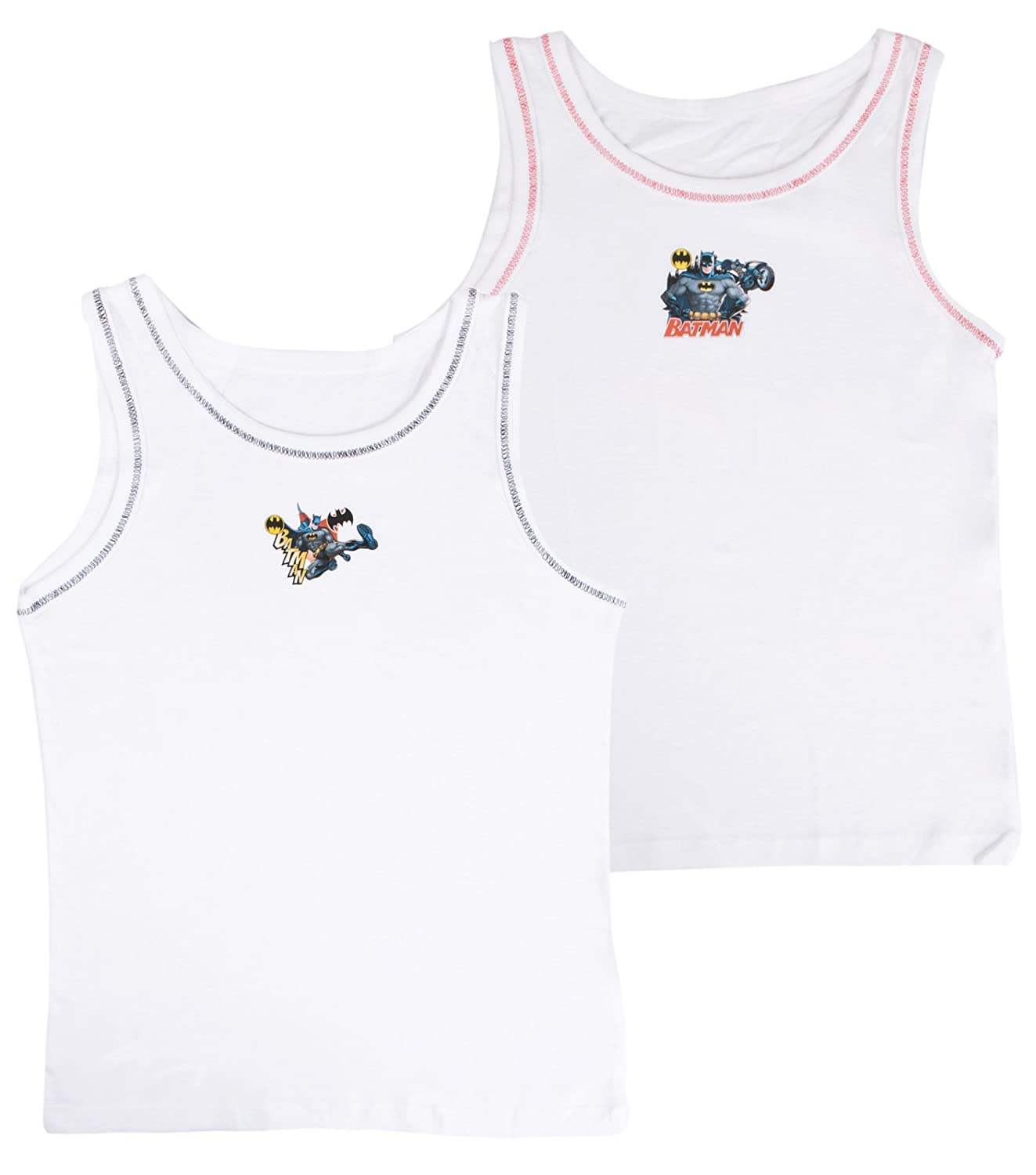 DC Comics Boys Baman Vests (Pack of 2) Shoe Directory