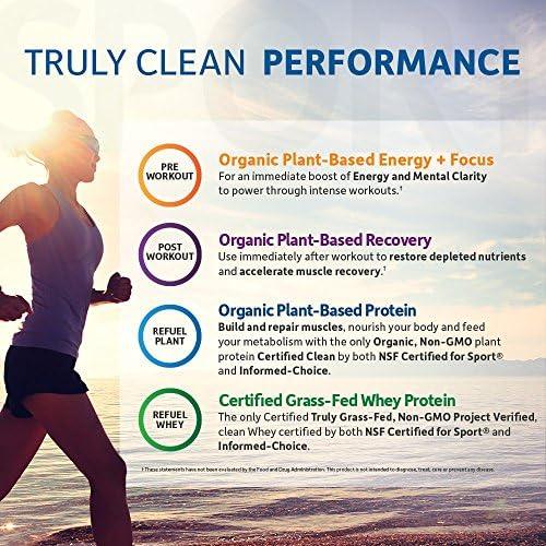 Garden of Life Sport Organic Pre Workout Energy Plus Focus Vegan Energy Powder, BlackBerry, 12 Count 7