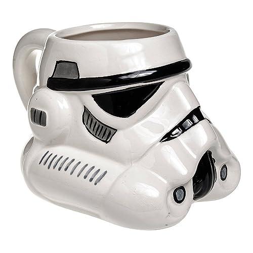 Star Wars Stormtrooper 3D Mug - Tasse Relief Guerre Des Etoiles (Blanche)