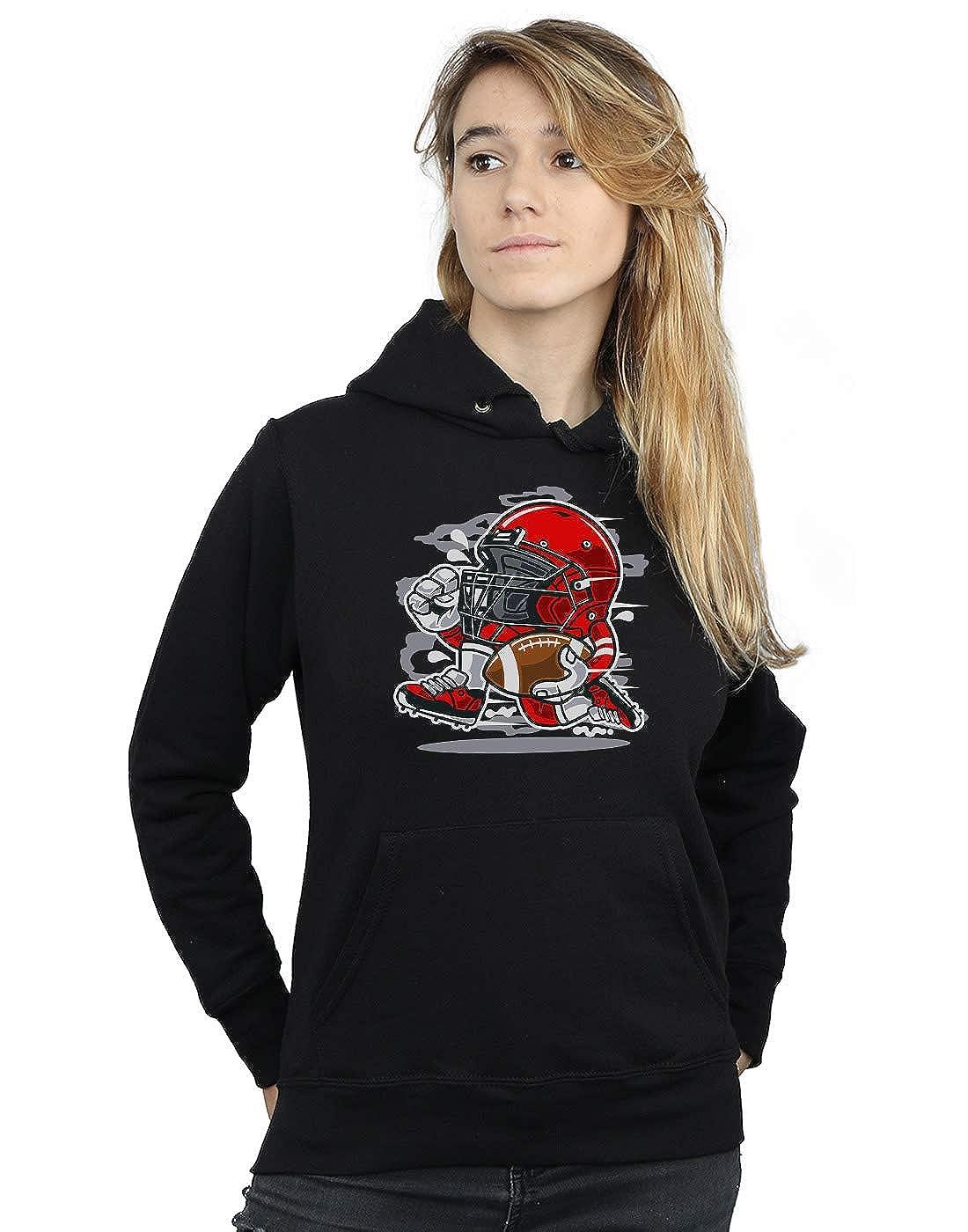 Drewbacca Womens Football Player Red Hoodie