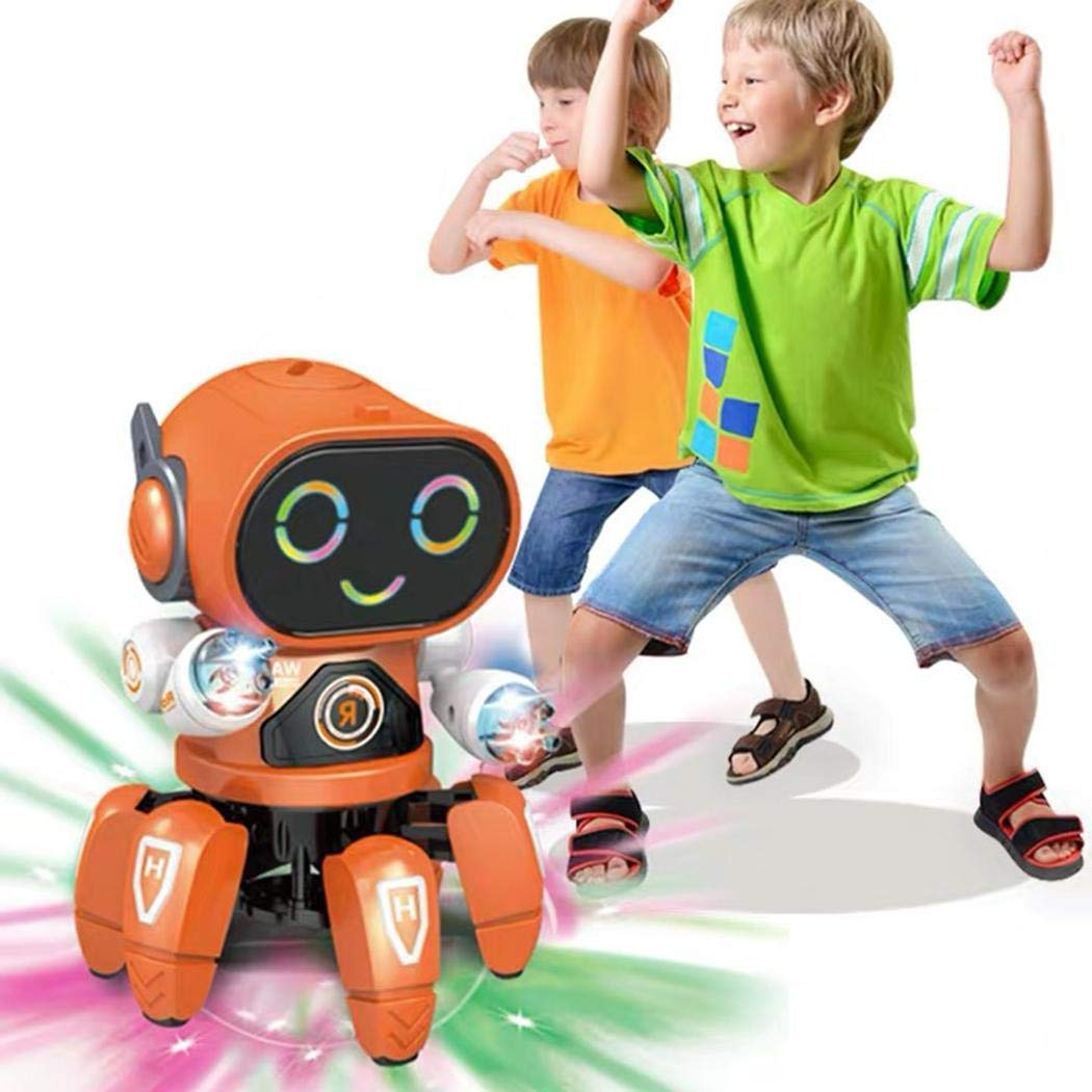 Detailorpin Children Dancing Robot 10-Color Light Music Six-Claw Fish Electronic Toy Gift by Detailorpin (Image #2)