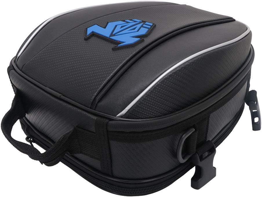 Jinyao Motorcycle Tail Bag Blue Waterproof Luggage Bag Seat Bag Motorbike Saddle Bags Multifunctional Bike Bag Sport