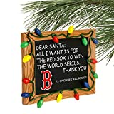 Boston Red Sox Official MLB 3 inch x 4 inch Chalkboard Sign Christmas Ornament
