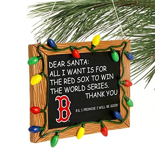 Boston Red Sox Resin Chalkboard Sign Ornament