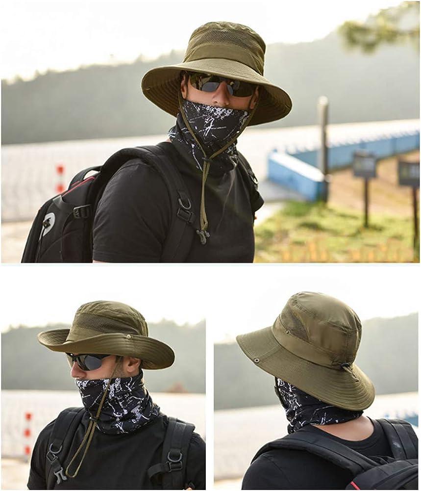 SIYWINA Sombrero de Hombre de Pescador UPF 50 Verano Mujer Protecci/ón UV Sombreros de al Aire Libre