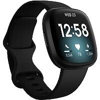Fitbit FB511BKBK-FRCJK Versa 3 Health & Fitness Smartwatch with GPS, 24/7 Heart Rate, Alexa Built-in, 6+ Days Battery…