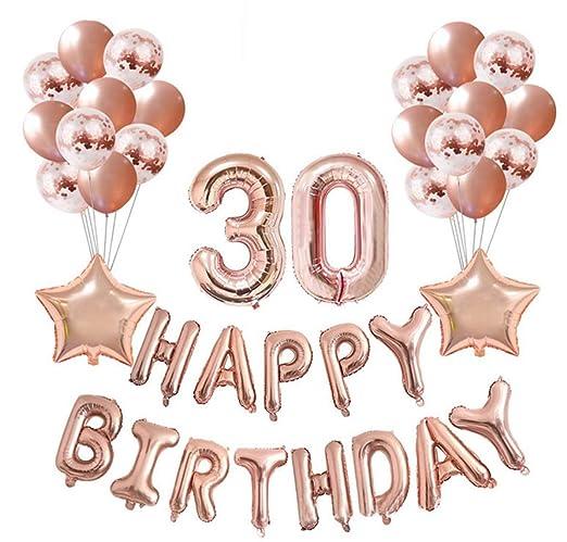 Crazy-M Set de decoración de cumpleaños Número 30 Globo de ...