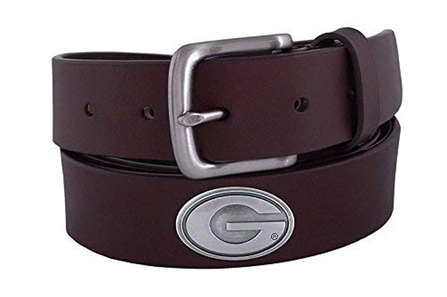 ZeppelinProducts UGA-BOLP-BRW-46 Georgia Concho Brown Leather Belt 46 Waist