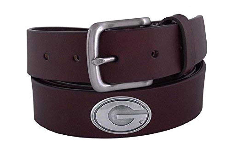 ZEP-PRO NCAA Boys NCAA Georgia Bulldogs Childrens Leather Concho Belt Brown