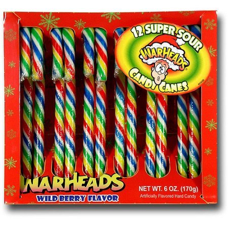 12 Count Warheads Candy Cane -