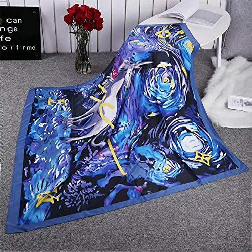 Scarfs for Women Unicorn Graffiti twill simulation silk satinLightweight Fashion Long Shawl Wraps 130130 cm/51.251.2 inches by IdealHome