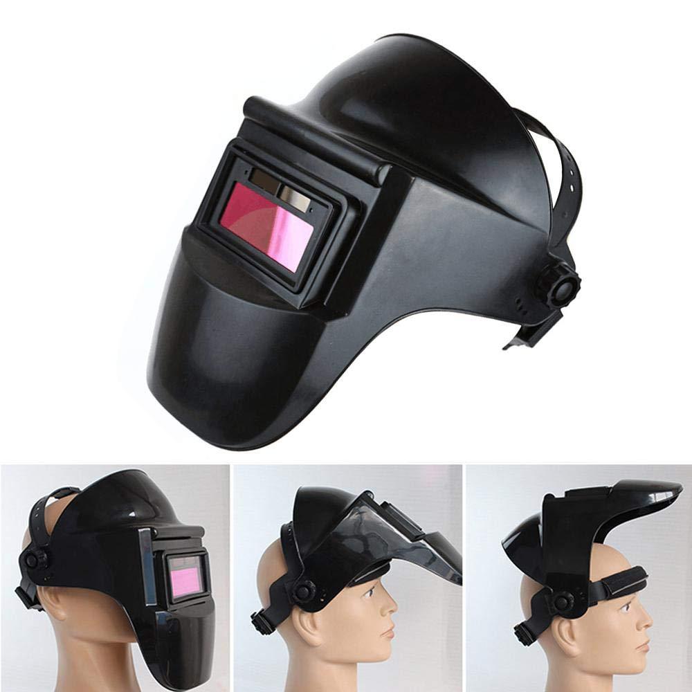 lentes con sensor de arco para soldadura MIG TIG ARC Hamkaw Casco de soldadura m/áscara de soldadura de oscurecimiento autom/ático con filtro solar de doble capa con lente parasol protector HD