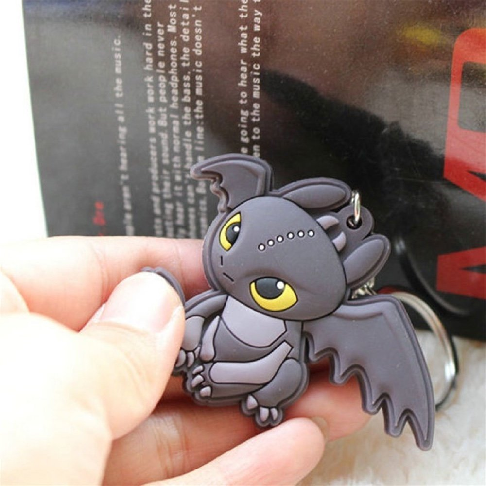 How to Train Your Dragon Keychain Toothless Night Fury ...