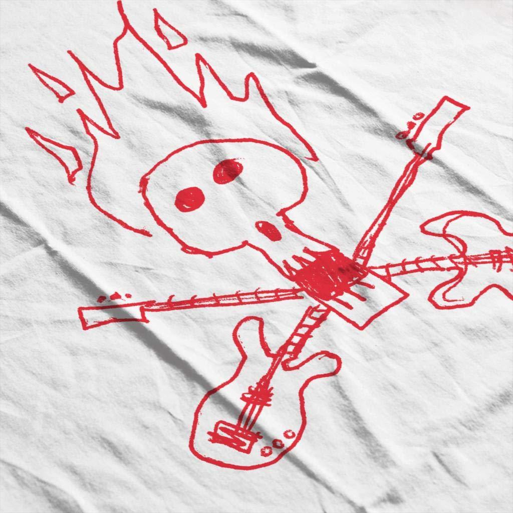 Zits Red Guitar Skull Doodle Mens Sweatshirt