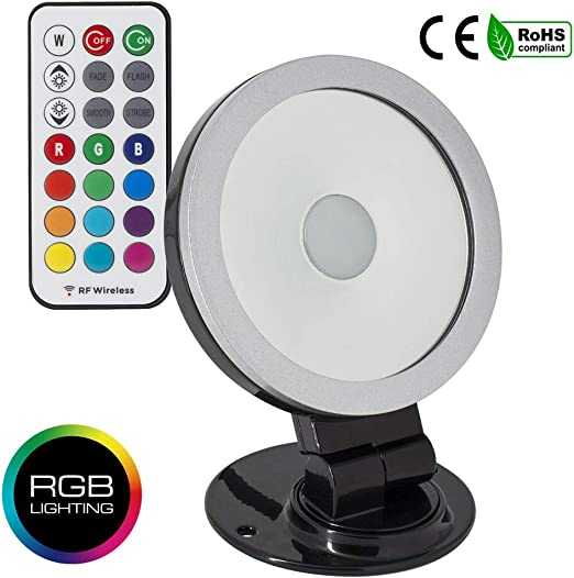 Foco Proyector LED Direccionable 360º RGB 20W Negro Luz Multicolor Paisajes Arboles Jardines Exterior IP65: Amazon.es: Iluminación
