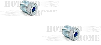 "Inverted Flare Nut 1//2""-20 For 3//16"" Brake Line White Zinc Anodized by Pair"
